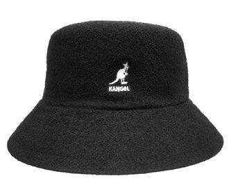 黑色的水桶帽,KANGOL 桶 KANGOL 百慕大百慕大的板球百慕大这顶帽子帽子男装女装中性