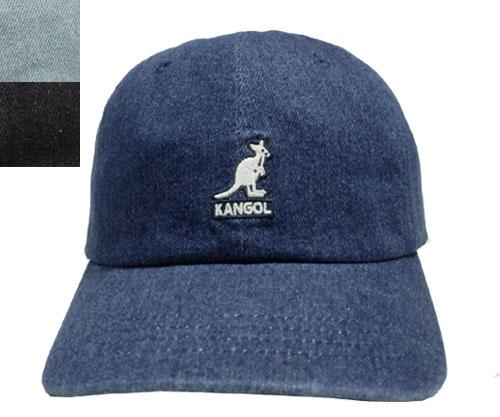 KANGOL SMU Denim Baseball カンゴール デニムベースボール RAW BLACK STONEWASH BLUE lt.BLUE 帽子 キャップ 野球帽 メンズ レディース 男女兼用 あす楽 日本別注