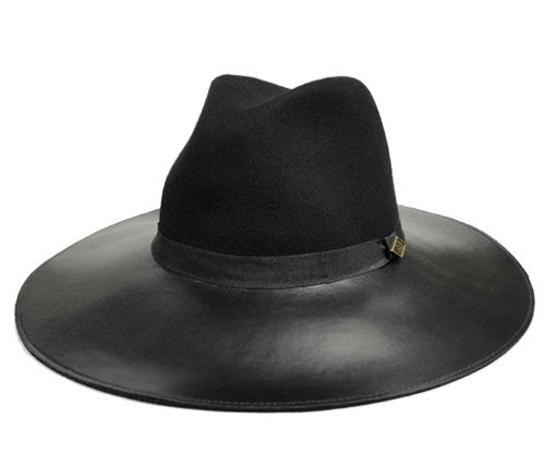 Goorin Brothers グーリン ブラザーズ Miss Mei ミス メイ Black 帽子 ハット フェルトハット レザー 中折れ ツバ長 紳士 婦人 メンズ レディース 男女兼用