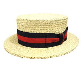 HABIG ハビック 18347 カンカン帽 麦わら帽子 ストライプ イタリア製 高級 日よけ 男女兼用 メンズ レディース