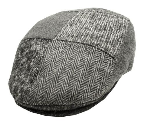 GOTTOMAN ゴットマン 30056 同系色パッチワークハンチング グレー 帽子 インポート 日よけ 男女兼用 メンズ レディース