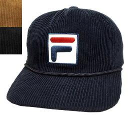 FILA フィラ FLS CORDUROY 5P SNAP BACK NAVY BLACK BEIGE 野球帽 コーデュロイ キャップ 帽子 メンズ レディース 男女兼用 あす楽
