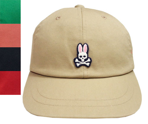 Psycho Bunny サイコバニー 6方キャップ ベージュ サンゴ グリーン 紺 赤 野球帽 ストリート キャップ 帽子 うさぎ ゴルフ メンズ レディース 男女兼用 あす楽