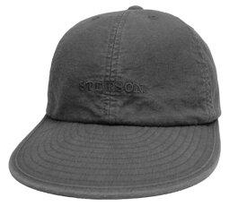 帽子 ステットソン STETSON SE077 6方 キャップ 黒 日本製 メンズ レディース