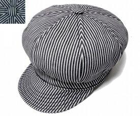 ニューヨークハット 帽子 キャスケット ハンチング NEW YORK HAT 6305 HICKORY SPITFIRE Navy Stripe メンズ レディース 大きいサイズ 春夏秋冬