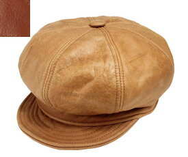 New York Hat ニューヨークハット #9223 Vintage Leather Spitfire Rust Brandy ヴィンテージ レザー スピットファイア キャスケット 紳士 婦人 メンズ レディース 男女兼用
