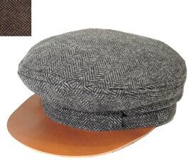 New York Hat ニューヨークハット #9068 Herringbone Fiddler GREY BROWN ヘリンボーン マリンキャップ 紳士 婦人 メンズ レディース 男女兼用