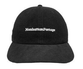 Manhattan Portage マンハッタンポーテージ MP010-18A00 6PANEL CAP BLACK OFFWHITE 日本製 シンプル キャップ カジュアル ストリート 野球帽 メンズ レディース