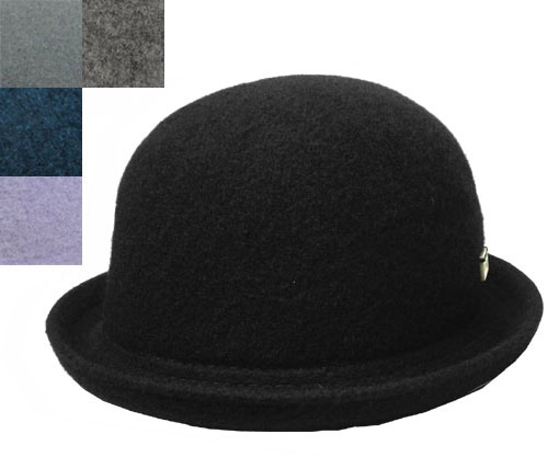 KANGOL カンゴール WOOL BOMBIN ウールボンビン BLACK SLATE GREY DEEP LILAS FLANNEL 帽子 ハット ボーラー ウール 紳士 婦人 メンズ レディース 男女兼用 ギフト