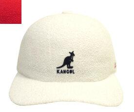 KANGOL UFO Baseball カンゴール WHITE SCARLET シンプル パイル 帽子 キャップ 野球帽 メンズ レディース 男女兼用 あす楽