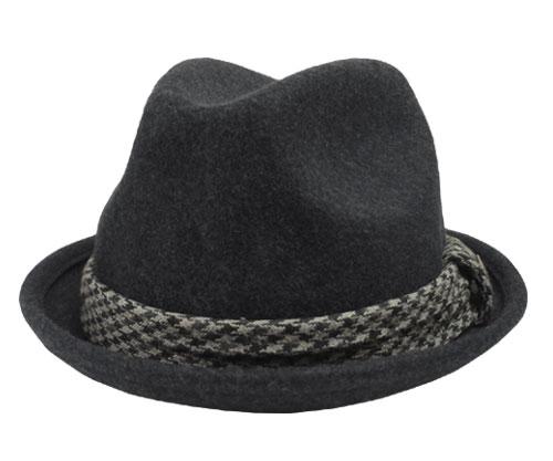 Goorin Brothers グーリン ブラザーズ JAMES COLUMBO ジェームス コロンボ CHARCOAL 帽子 ハット 中折れ 千鳥柄 紳士 婦人 メンズ レディース 男女兼用