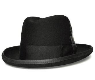 帽子氈帽子貝利伊Bailey Hollywood Series 3817 GODFATHER教父Black homburuguhatto紳士人