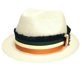 CHRISTYS LONDON クリスティーズ ロンドン CPN100415 Carnaby Panama ナチュラル フリンジ ストライプ パナマ ストロー 中入れ 帽子 天然草 高級 イギリス製 紳士 婦人 メンズ レディース 男女兼用 あす楽
