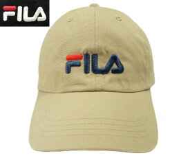 フィラ FILA FLS COTTON TWILL 6P CAP BEIGE BLACK 165 713 501 野球帽 ロー キャップ スポーツ 帽子 メンズ レディース 男女兼用 あす楽