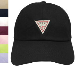 GUESS ゲス GS TWILL LOW CAP 100-115401 BLACK BEIGE NAVY WHITE DKRED PINK LTGREEN LTPURPLE 無地 キャンバス 帽子 キャップ