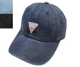 GUESS ゲス GS DENIM LOW CAP 100-115402 NAVY LTBLUE BLACK 無地 デニム 帽子 キャップ メンズ レディース ギフト