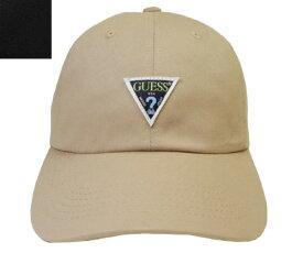 GUESS ゲス GS TWILL ORIGINAL LOW CAP 187-115 001 BLACK BEIGE 無地 キャンバス 帽子 キャップ メンズ レディース