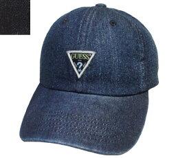 GUESS ゲス GS DENIM ORIGINAL LOW CAP 187-1154002 NAVY BLACK 無地 デニム 帽子 キャップ メンズ ギフト