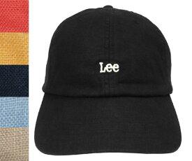 Lee リー LE LOW CAP LINEN 195-176003 BLACK PINK YELLOW NAVY BLUE BEIGE カジュアル 帽子 シンプル ロー キャップ 麻 リネン メンズ レディース 男女兼用 あす楽