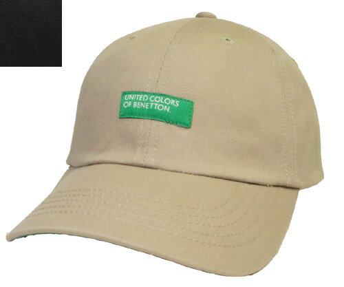 UNITED COLORS OF BENETTON ユナイテッド カラーズ オブ ベネトン UCB COTTON TWILL GL CAP 100-116001 BEIGE BLACK 無地 キャンバス メンズ レディース