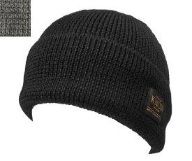 KNOX ノックス 918615 ショートケーブルワッチ ブラック グレー カジュアル ワッチキャップ ニット帽 メンズ レディース 男女兼用 あす楽