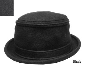 New York Hat(ニューヨークハット)ポークパイハット #5588 WOOL STINGY Black Charcoalgray