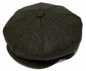 New York Hat ニューヨークハット ハンチング 9038 HERRINGBONE NEWSBOY ヘリンボン ニュースボーイ Brown ver2