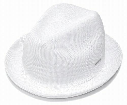 KANGOL TROPIC PLAYER カンゴール トロピックプレイヤー, White [ ぼうし ヘッドギア メッシュ 中折れ HAT 中折れハット 中折れ帽 大きいサイズ XXLサイズ メンズ レディース 男性用 女性用 男女兼用 ]