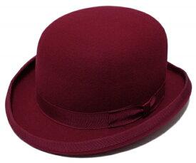 送料無料 CHRISTYS' LONDON クリスティーズ・ロンドン フェルトダービーハット WOOL FELT DERBY Red 24270 紳士 婦人 メンズ レディース 男女兼用