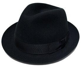 送料無料 CHRISTYS LONDON クリスティーズロンドン フェルトハット 24490 Wool Felt Fedora Black 帽子 ハット 中折れハット 紳士 婦人 メンズ レディース 男女兼用