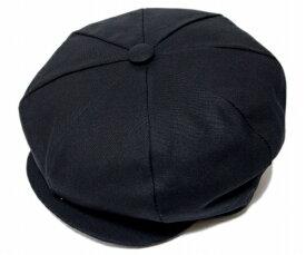 ニューヨークハット 帽子 キャスケット ハンチング NEW YORK HAT 6218 CANVAS NEWSBOY Black メンズ レディース 大きなサイズ XXL 春夏秋冬