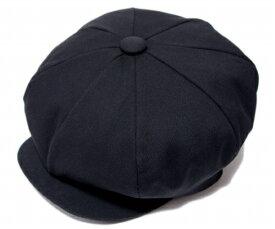 NEW YORK HAT(ニューヨークハット) 帽子 キャスケット #6226 CANVAS BIG APPLE, Black