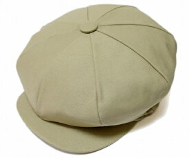 NEW YORK HAT(ニューヨークハット) 帽子 キャスケット #6226 CANVAS BIG APPLE, Khaki
