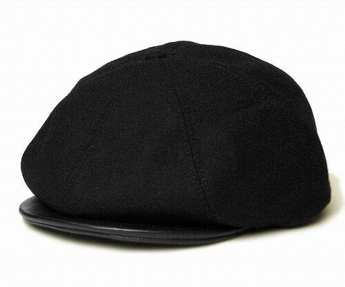 【送料無料】New York Hat(ニューヨークハット) レザーバイザーギャッツビー #9008 Leather Visor Gatsby, Black