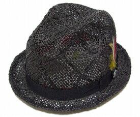 "CHRISTYS' CROWN(クリスティーズ・クラウン) 麦わら帽子 ストローハット ""ROEBLING"", Black(CCS712)"