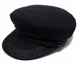 ニューヨークハット 帽子 マリンキャップ セーラーキャップ NEW YORK HAT フィッシャーマンキャップ 6033 CANVAS GREEK Black メンズ レディース 春夏秋冬