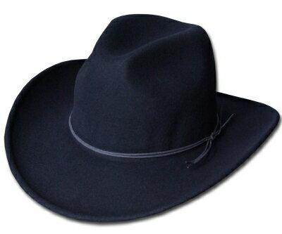 送料無料 New York Hat ニューヨークハット フェルトハット 5311 Rough Rider Slouch(SOFT FELT RIDER) ラフライダー スロッチ Black 帽子 フェルト帽子 中折れハット 紳士 婦人 メンズ レディース 男女兼用 あす楽
