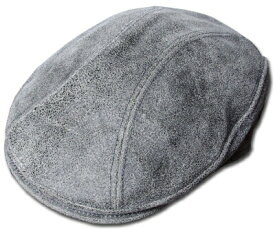 New York Hat(ニューヨークハット)ハンチング #9255 ANTIQUE LEATHER 1900, Grey