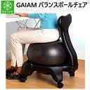 GAIAM バランスボールチェア イスエクササイズ フィットネス ボールバランスボール ポンプ付 balance ball chair体幹 …