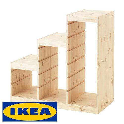 IKEA TROFAST 階段型 収納 フレーム イケア トロファスト 94x44x91cm パイン材 ラック 棚 キャビネット 収納ボックス【smtb-ms】40308696