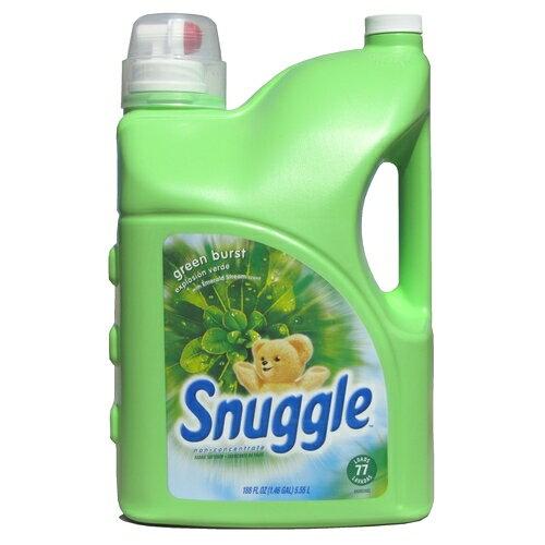 スナッグル グリーンバースト 5.55L 衣類 柔軟仕上げ剤 Snuggle Green Burst 188 oz 液体 柔軟剤 非濃縮タイプ 界面活性剤 微香 【smtb-ms】0576877