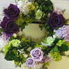 豪華的紫的玫瑰花的risupurizabudofurawa/purizabudo/puriza/花//]/租借/墻壁裝飾/乾燥花/紫陽花/紫陽花/