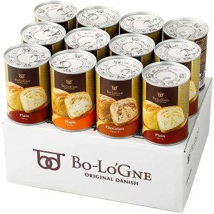 缶deボローニャ 12缶セット 3年保存 保存食 非常食 防災食 備蓄食 パン デニッシュ 送料無料