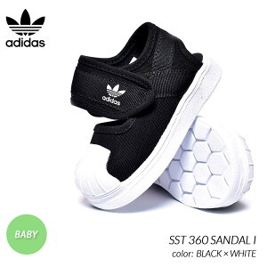 adidas SST 360 SANDAL I BLACK × WHITE アディダス キッズ ベビー サンダル スニーカー ( 黒 ブラック 白 ホワイト シューズ 靴 EG5711 )