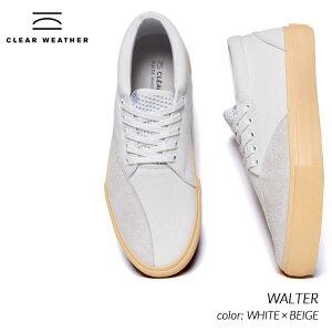 日本未発売 CLEAR WHEATHER WALTER WHITE × BEIGE クリアウェザー ブランド ウォルター スニーカー ( 海外限定 デッキシューズ 白 ホワイト CM016008 )