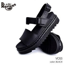 限定 ドクターマーチン ヴォス レザー サンダル Dr.Martens VOSS BLACK ( 黒 ブラック ボス メンズ レディース 23802001 )