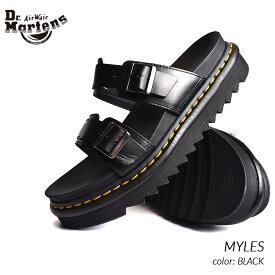 限定 ドクターマーチン マイルス レザー サンダル Dr.Martens MYLES BLACK ( 黒 ブラック メンズ レディース 23523001 )