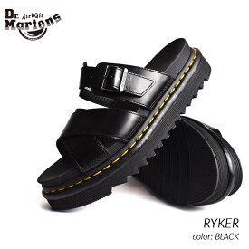 限定 ドクターマーチン ライカー レザー サンダル Dr.Martens RYKER BLACK ( 黒 ブラック メンズ レディース 24515001 )