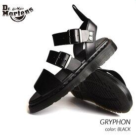 限定 ドクターマーチン グリフォン レザー サンダル Dr.Martens GRYPHON BLACK ( 黒 ブラック メンズ レディース 15695001 )