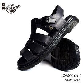 日本未発売 Dr.Martens CAROLYN II BLACK ドクターマーチン キャロライン 2 レザー サンダル ( 黒 ブラック メンズ レディース 23396001 )